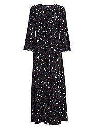 Ganni Women S F2584099 Black Silk Dress