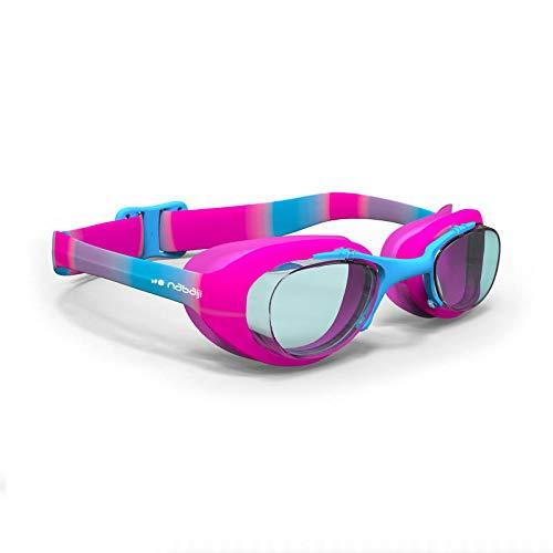 6028f148d Nabaiji XBASE Print Swimming Goggles Size S (Pink Blue, S)