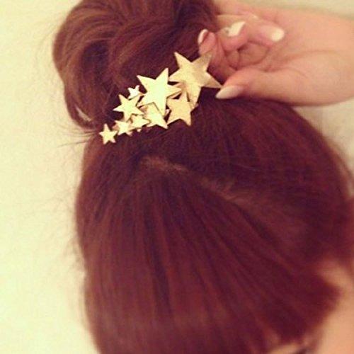 Yhcean Frauen Mä dchen Metall Sterne Haarspange Haar Clips Haar Zubehö r –  Golden