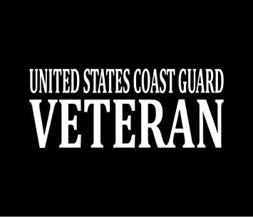 US COAST GUARD VETERAN Vinyl Decal Car Window Laptop Bumper Sticker