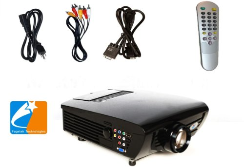 iDGLAX DG-747 LED HDMI Movie Video Projector, 800 x 600 Pixels for Home Theater and Game]()