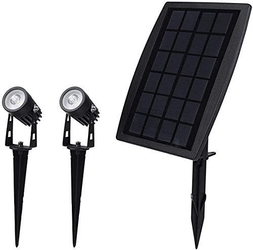 Solarek LED Solar Security Motion Sensor 2 Spot Lights W/Solar Panel. Waterproof, Dusk to Dawn, Eco-Friendly. for Decoration/Deck/Outdoor/Porch/Lawn/Garden/Yard/Patio/Pathway/Driveway/Christmas/Pool
