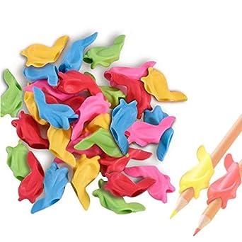 Lápices de silicona, 30 unidades, sujetadores para escritura y entrenamiento, para niños y adultos, para un mejor control de escritura a mano: Amazon.es: ...