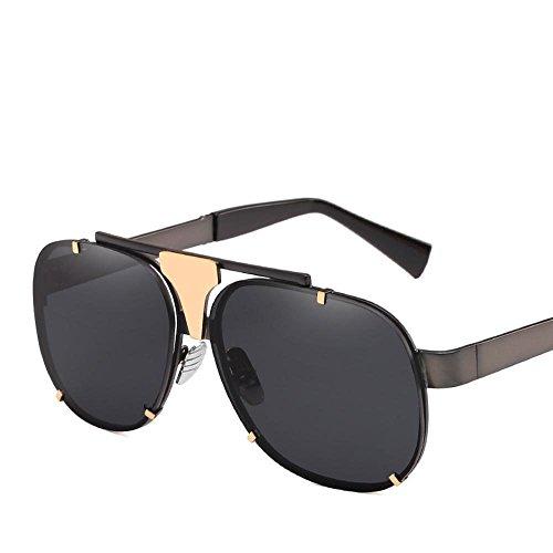 gafas personalidad de protección UV400 gafas sol de hombres los gafas F marea Europa y Estados Aoligei la sol de de Metal las marco sol Unidos xvUHTap