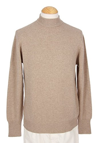 Sweater Cashmere Beige (Shephe Men's Mock Turtleneck Cashmere Sweater Beige Large)