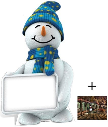 Snowman with Sign - Christmas Lifesize Cardboard Cutout / Standee / Standup - Includes 8x10 (20x25cm) Star Photo by (Starstills UK) Fan Packs