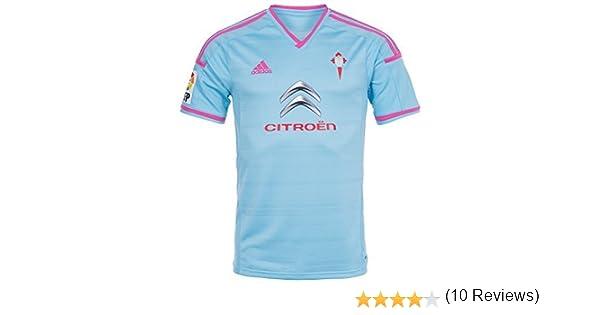adidas Camiseta RC Celta de Vigo Home 2014 Celeste Talla M: Amazon ...