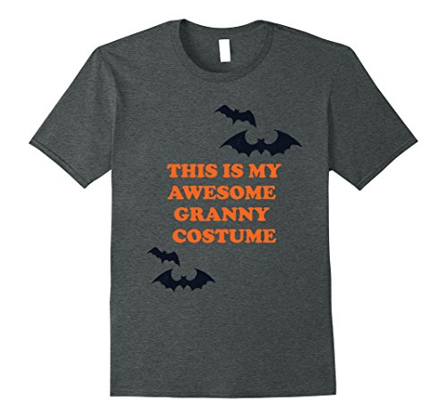 Granny Halloween Costumes (Mens This is my Awesome Granny Costume Funny Halloween T Shirt XL Dark Heather)