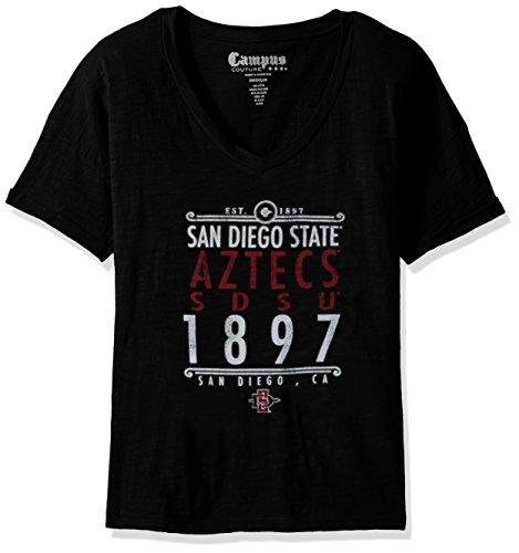 Original Retro Brand NCAA San Diego State Aztecs Women's Slub V Neck Tee, X-Large, ()