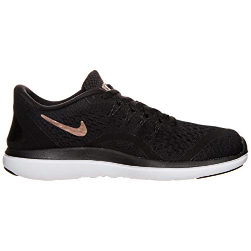 Nike Womens Flex 2017 RN Black/Mtlc/Red/Bronze Running Shoe 6.5 Women US