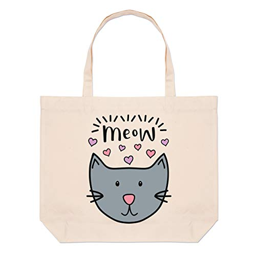 fourre Chat Miaou Sac Plage tout Grand Luna qXO8x85wP