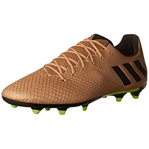 adidas Originals Men's Messi 16.3 Firm Ground Cleats Soccer Shoe, Copper Metallic/Black/Solar Green, (11.5 M US)