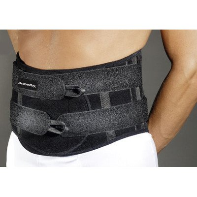 Lumbar Sacral Brace in Black Size: Large by ActivDay