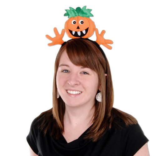 Pumpkin Headband Party Accessory (1 count) (Halloween Hair Band)