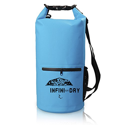 INFINI-DRY Waterproof Dry Bag For Outdoor Lifestyle and Sports - 2 Sizes / 4 Colors (Blue, 20L)