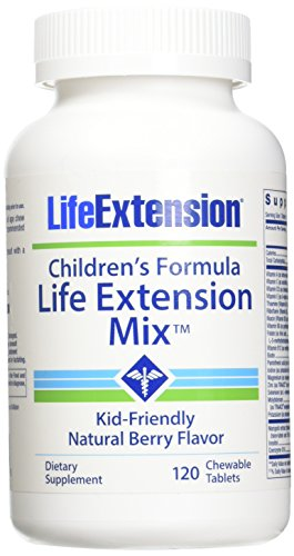 Childrens Multivitamin Chewable Tablets (Life Extension Children's Formula Mix Chewable Tablets, 120 Count)