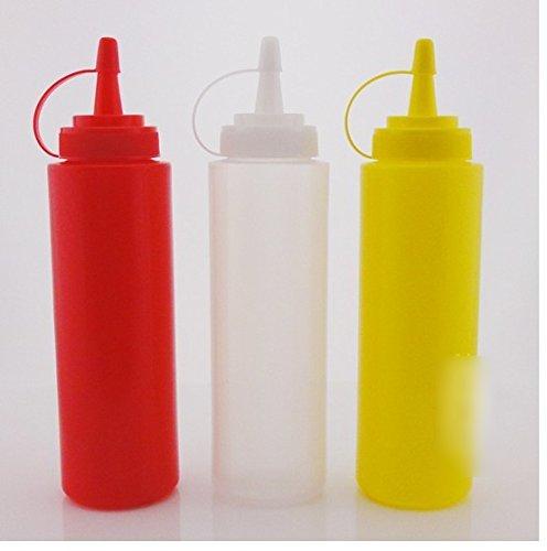 Plastic Kitchen Oil Sauce Ketchup Squeeze Bottle Condiment