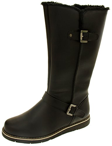 Womens Calf Footwear Winter Studio Faux Leather Mid Keddo Black Boots YBxwEB