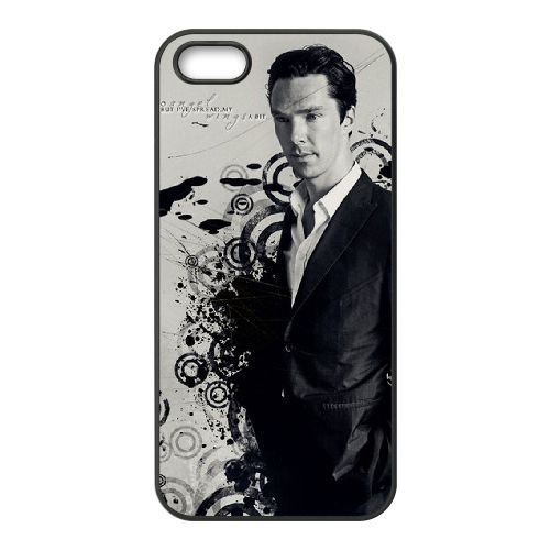 Benedict Cumberbatch 006 coque iPhone 4 4S cellulaire cas coque de téléphone cas téléphone cellulaire noir couvercle EEEXLKNBC23516