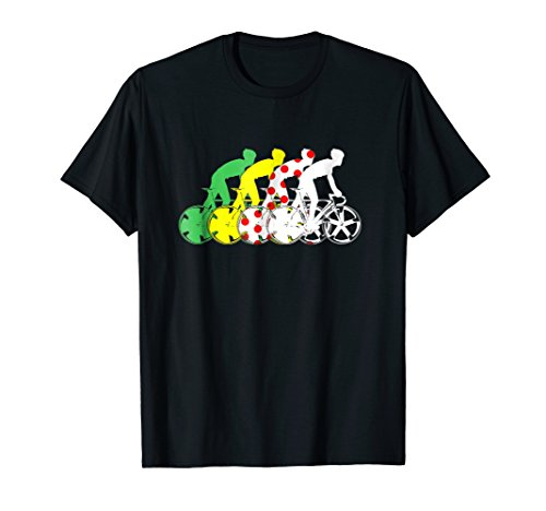 Tour France Race Jerseys Colours T-Shirts Cycling Tee Bike
