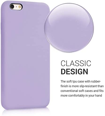 kwmobile TPU Silicone Case Compatible with Apple iPhone 6 Plus / 6S Plus - Case Slim Protective Phone Cover with Soft Finish - Lavender