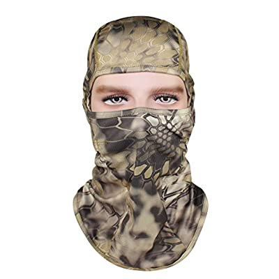 GANWAY Pack of 3 Outdoor Accessories Hat Hunting Fishing Cap Camouflage Balaclava Sun Motorcycle Face Mask: Sports & Outdoors