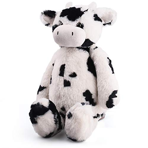 LotFancy Cow Stuffed Animal Plush, Tubbie Wubbie Cow, Soft Adorable Cuddly Calf Stuffed Animal Plush Collectible Toy for Baby Snuggling, Black & White, Large, -