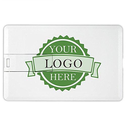 Personalized DIY Custom Logo/Text 8GB Credit Card Style USB Flash Memory Stick Thumb Drive