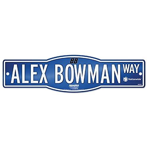"""WinCraft Alex Bowman #88 NASCAR 4""""x17"""" Street Sign"""