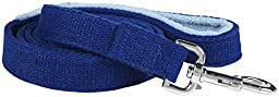 Planet Dog 5\' Natural Hemp Leash with Fleece Lined Handle, Blue