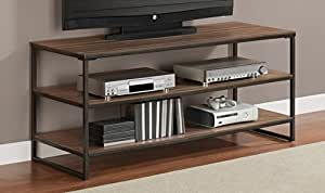 elements grey oak entertainment media center 50 inch flat screen tv stand kitchen. Black Bedroom Furniture Sets. Home Design Ideas