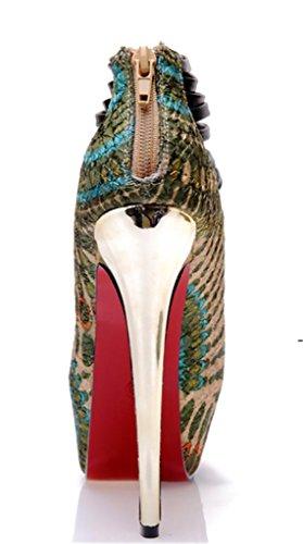 HETAO Persönlichkeit Frauen Blumen Stickerei Chunky Ferse Sandale High Heel Knöchel Strap Schuhe Sommer Elegant Open Toe Sandalen Geschenk Des Mädchens Blue