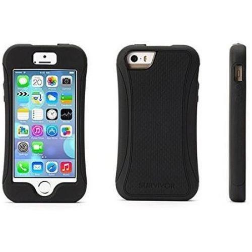 brand new e4f29 d572b Griffin Survivor Slim Case for Apple iPhone 5/5S - Black - Import It All