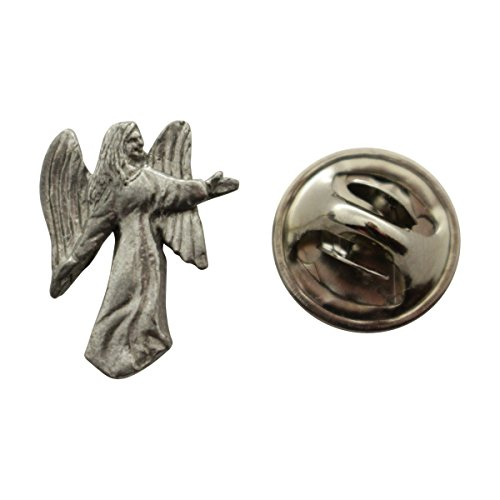 - Angel Mini Pin ~ Antiqued Pewter ~ Miniature Lapel Pin ~ Sarah's Treats & Treasures