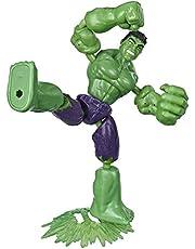 Marvel Avengers Bend and Flex-actiefiguur, flexibele Hulk-figuur van 15 cm, met blastaccessoire, voor kinderen vanaf 6 jaar
