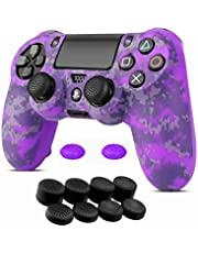 Miagon Camouflage Pattern Design Silicone Skins for PS4/PS4 Slim/PS4 Pro Controller Protective Cover Rubber Case Faceplates Kits with 10 Thumb Grips Caps-9