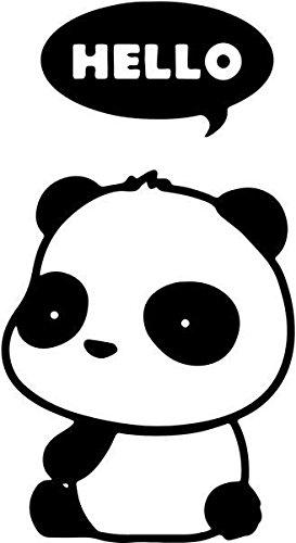 Amazon Com Hello Cute Baby Panda Vinyl Decal Sticker 6 Tall Gloss