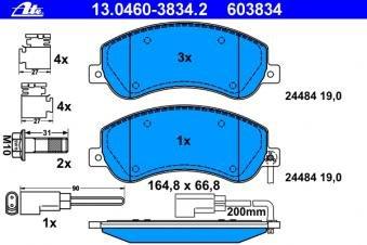 Bremsbelagsatz Scheibenbremse ATE 13.0460-3834.2