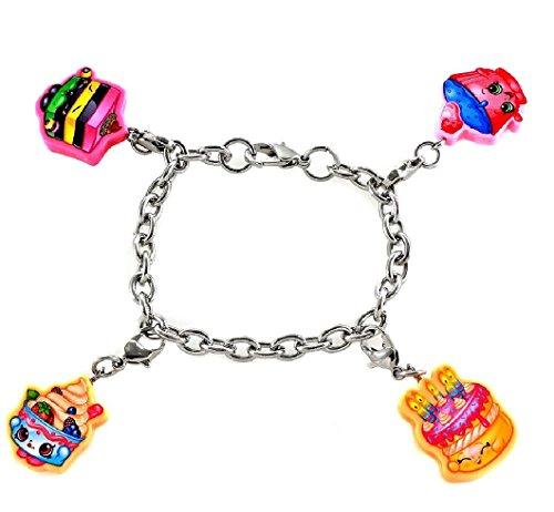 Ring Yochi (Shopkins Charm Bracelets w/ Free Shopkins Mystery Item (Cupcake Chic, Le'Quorice, Yo-Chi, Wishes))