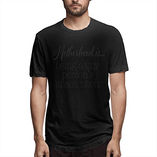 Jully Satt Motherhood is Being A Tiny Person's Snack Bitch Men' Printing Tee Shirt How to Get Pregnant with A Girl,How to Not Be Sensitive Street Wear Black XL (Foods To Eat To Get Pregnant Easily)