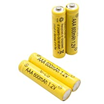 AAA Ni-cd Replacement Rechargeable Batteries for Solar Lights 600mah - 12/pack