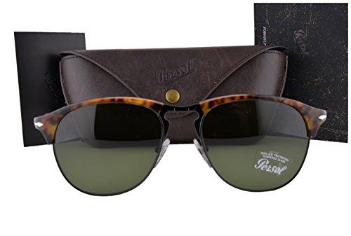 Persol Sunglasses PO8649S Cafe Havana w/Green Lens 1084E - Po8649s