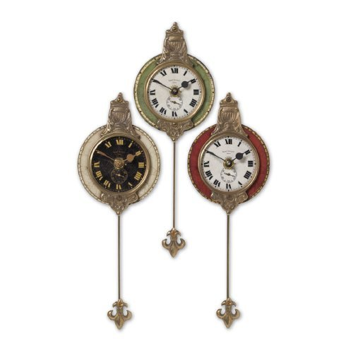 Monarch 1 Light Cast (Uttermost Monarch Wall Clock, Set of 3)