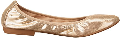 Negen West-dames Giovedi Metallic Ballet Plat Licht Goud