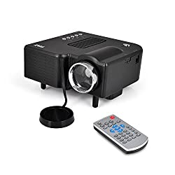 Pyle Full HD 1080p Mini Portable Pocket Video & Cinema Home Theater Projector - Built-in Stereo Speaker, LCD+LED Lamp, Digital Multimedia, HDMI, USB & VGA Inputs for TV PC Game Business Computer & Laptop