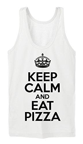 Keep Calm And Eat Pizza Tanktop Girls Bianco