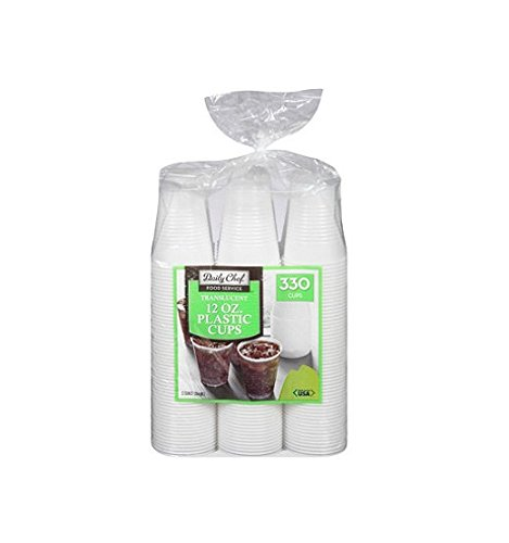 Daily Chef Translucent Cups, 330 Count, 12 oz.