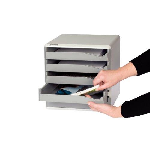 Cassettiera da scrivania colore: Nero 10 cassetti Leitz 528-00-95