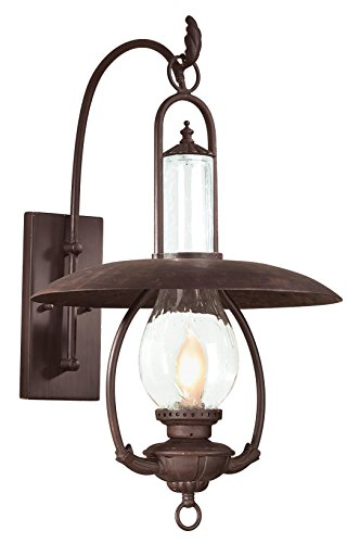"""Price comparison product image Troy Lighting La Grange 26.35""""H 1-Light Outdoor Wall Lantern - Old Bronze Finish with Clear Seeded Glass"""
