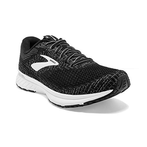 Brooks Womens Revel 3 Running Shoe - Black/Blackened Pearl/White - B - 7.5